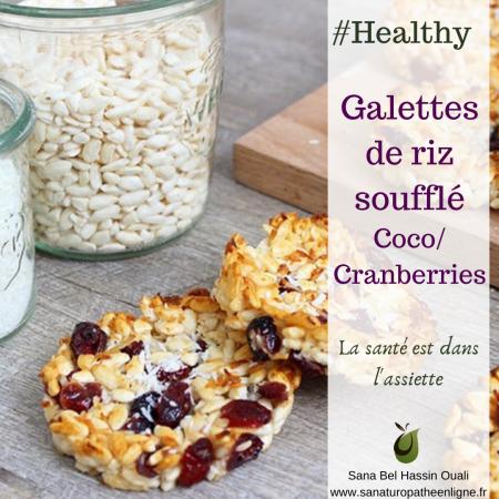 recette goûté healthy recette galettes de riz soufflé