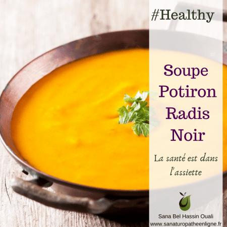 soupe potiron carotte radis noir