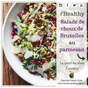 salade de choux de Bruxelles au parmesan