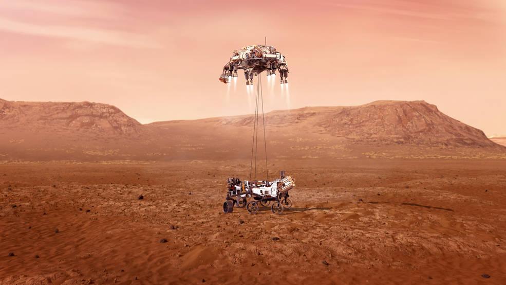NASA'nın Azim'i Mars'a başarıyla indi