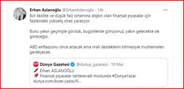 Erhan Aslanoğlu hoca finansal piyasaları yazdı
