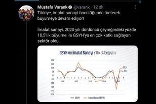 'Türkiye, imalat sanayi öncülüğünde büyüyor'