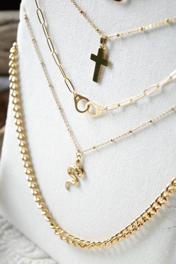 Collier doré bijoux SANBAYA.FR Bijouterie
