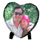 Custom Photo Rock Slate Heart Shape Approx. 16 x 16 cm