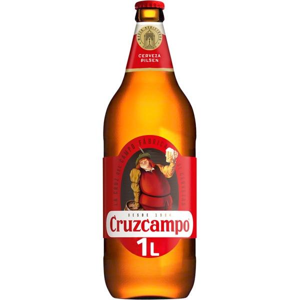Botella de vidrio cerveza