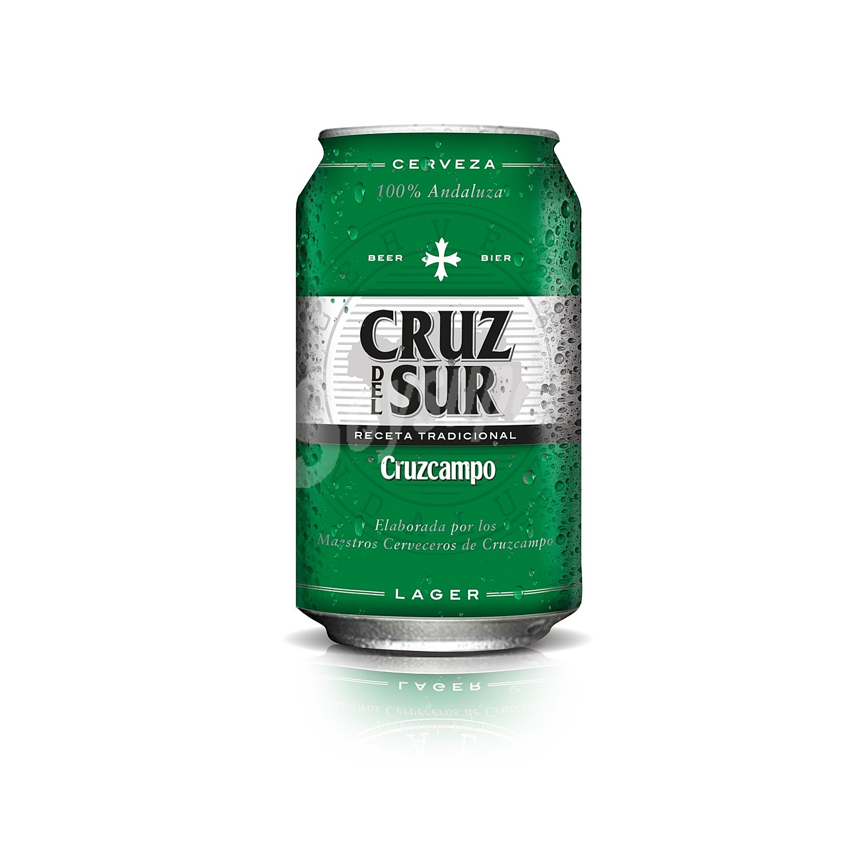 lata de cerveza verde