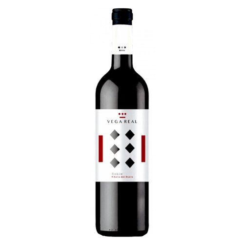 Botella de vino tinto roble