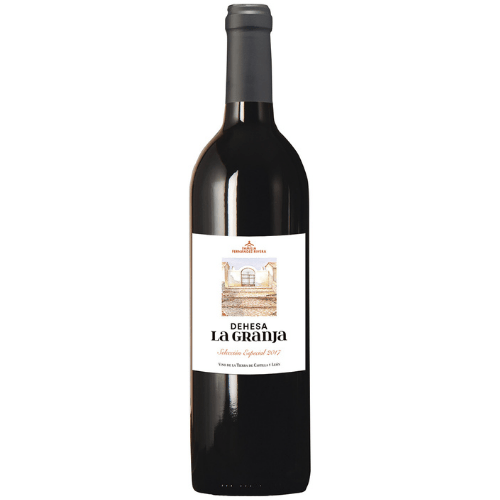Botella de vino dehesa