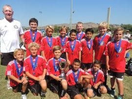 The SC United U11 soccer team went undefeated en route to capturing the Swallows Cup Flight II Championships on June 16. Courtesy photo