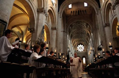 The Cathedral Choir of Christ Church College, Oxford, will be performing at the Casa Romantica Cultural Center and Gardens this spring. Courtesy photo.