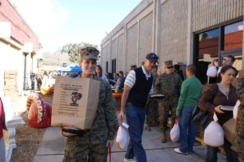 San Clemente charities raise spirits of military families with everything from baby showers to giveaway of turkeys at Thanksgiving and gifts at Christmas. Photo courtesy of Robert Crittendon