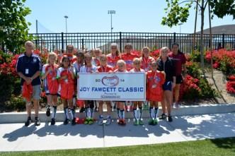 The Pacific Soccer Club U12 San Clemente Fire won the Joy Fawcett Classic Championship on June 8. Courtesy photo