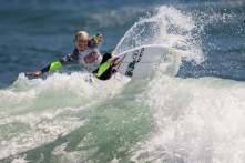 Jett Schilling on his way to a national title in Boys U12 at the Surfing America USA Championship, June 20. Photo: Jack McDaniel