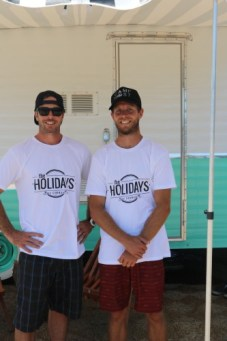Kellen Bann Ausdal (left) and Andrew Bryan Jones, the owners of The Holidays, expect to open their new camping business Aug. 1. Photo: Katherine Nowicki