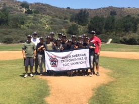 The San Clemente Little League Junior American Marines team won the District 68 Tournament of Champions on June 6. Photo: Courtesy