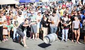 A crowd gathered for games at the San Clemente Oktoberfest event last year. Photo: Courtesy