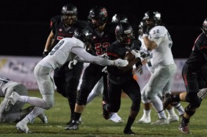 San Clemente junior Brandon Reaves runs the ball against Buena Park in a CIF-SS Southwest Division semifinal game on Nov. 27. Photo: Lance Scott/Red Zone Elite