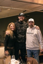 CancerSurvivor: After winning a fantasy sports contest, Joe Robbins (right), a San Clemente resident and cancer survivor, stands with his wife (left) and Cleveland Cavaliers player Kevin Love. Photo: Courtesy of James Douglas