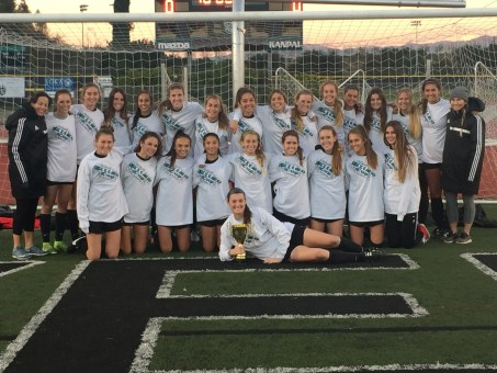 The San Clemente High School girls soccer team won the President's division of the Aliso Cup tournament on Dec. 14. Photo: Courtesy