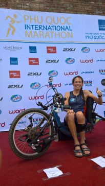San Clemente's Beth Sanden completed the Pho Quoc International Marathon in Vietnam on June 11, officially ending her quest for seven marathons on seven continents. Photo: Courtesy