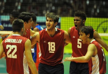 San Clemente's Kyler Presho (18) captained the U.S. Boy's Youth National Team to a silver medal at the NORECA Boys' U19 Continental Championships. Photo: NORECA