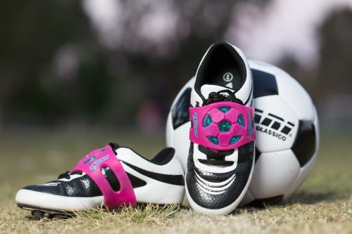 The Sockit, invented by San Clemente father Joe Briganti, said he hopes his product will help children and novice soccer players with their techniques. Photo: Courtesy of Joe Briganti