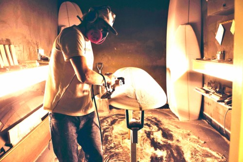 Tyler Warren, a local shaper, says there are many benefits to buying locally produced surf gear. Photo: Sage Burress