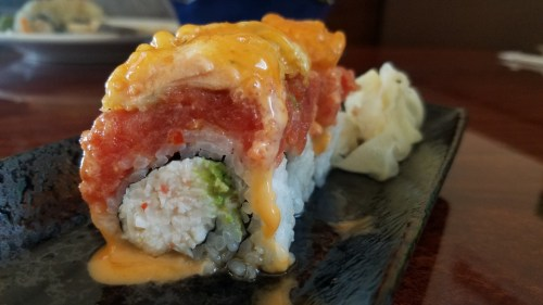 The Golden Sushi Roll. Photo: Allison Jarrell