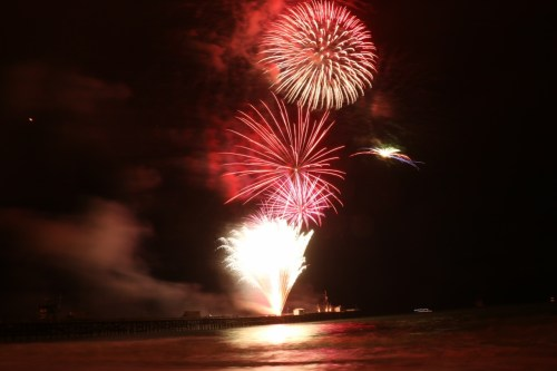 Fireworks over the San Clemente Pier are the centerpiece of the Fourth of July celebrations. San Clemente's fireworks start at 9 p.m. Photo: File