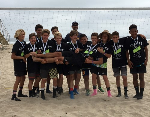 CFA's Boys 2003s team finished first at a sand soccer tournament in Huntington Beach on June 4. Photo: Courtesy