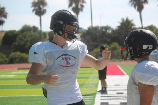 San Clemente will be led by returning starters like tight end Chris Kane, left. Photo: Steve Breazeale