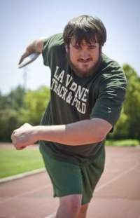 Kevin Brousard threw shot put and discus at University of La Verne. Photo: Courtesy