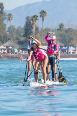 Candice Appleby competes at the 2016 Pacific Paddle Games. Photo: Greg Panas/SUP magazine