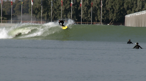 """The Kelly Slater Surf Ranch provides consistent quality waves, but is it """"surfing""""? Photo: Screenshot provided by Jake Howard"""