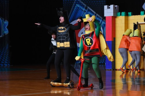 The SCHS Dance Team's Lego inspired Novelty routine took home a United Spirit Association National Championship trophy on Saturday night. Batman, played by SCHS junior Sophi Cook, and Robin, played by SCHS senior Kayla Hernandez, save the Lego queen from the Lego Ninjas during the Novelty competition dance. Photo: James Chriss