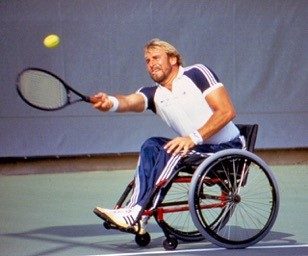 Wheelchair tennis founder Brad Parks selected for the San Clemente Sports Wall of Fame. Photo: Courtesy