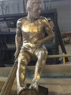 Hobie Alter, the inventor of the Hobie Cat, is being memorialized in bronze along with a number of other Dana Point surf icons. A sculpture of him atop a 14-foot boat is set to be unveiled on Oct. 26. Photo: HobieMemorial.com