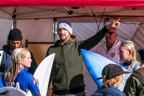 Named as the head coach of USA Surfing's elite junior program, Huntington Beach's Brett Simpson brings two U.S. Open titles and years of experience on the WSL Championship Tour to the program. Photo: USA Surfing/Nate Perry