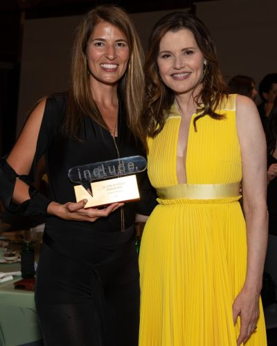 Film director Autumn McAlpin, of San Clemente, with Bentonville festival cofounder Geena Davis. Photo: Courtesy