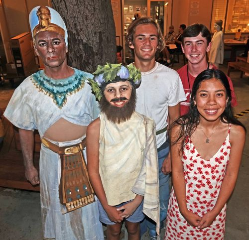 From left, Brian Rios, David Greuel, Spencer Currie, Zane Pert and Samantha Bregman are among 19 San Clemente performers in the 2019 Pageant of the Masters. Photo: Fred Swegles