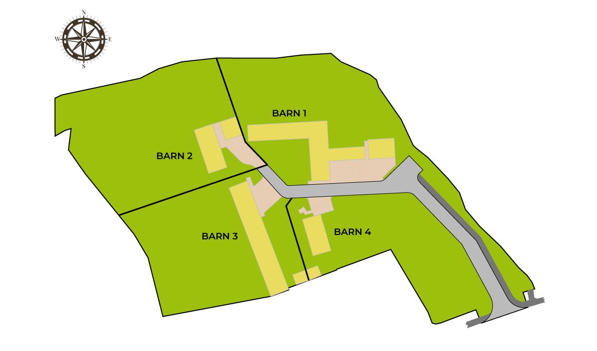 Cwrt Ysgubor Site Plan