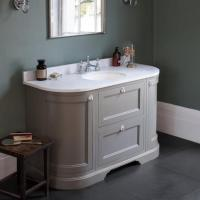 Burlington Olive 1340mm Curved Freestanding Vanity Unit ...
