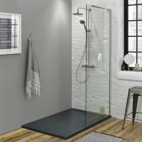 Summit Walk In Enclosure & Grey Slate Effect Shower Tray