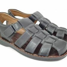Sandale barbati negre Sergiu