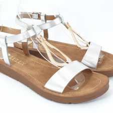 Sandale dama argintii Flores