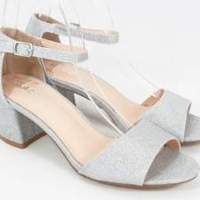 Sandale dama argintiu metalizat Andra