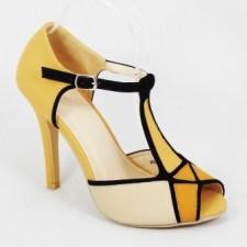Sandale dama khaki toc 10 cm Lucky