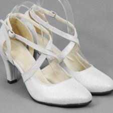 Sandale dama piele argintiu satinat Dorina