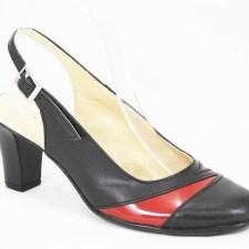 Sandale dama piele negre Lora