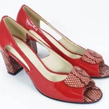 Sandale dama piele rosii lac Ileana
